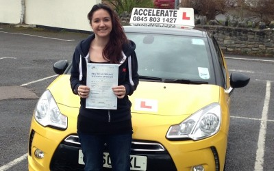 Well done Georgia on passing your test first time