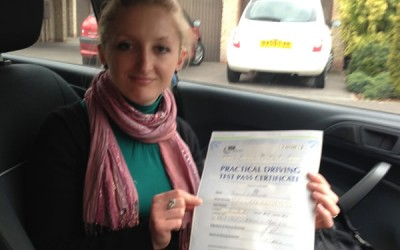 Congratulations to Joanna Mazurek from Wrington for passing 1st time!
