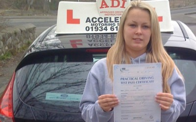 Paige Cobley passed her test in 8 weeks!