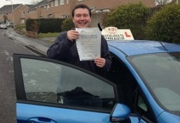 Driving test success. Well done David.