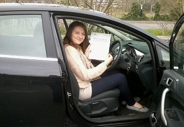 CONGRATULATIONS SARAH DRIVING TEST PASS