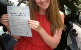 DRIVING TEST PASS WELL DONE MARTINA