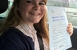 DRIVING TEST SUCCESS WELL DONE CHLOE
